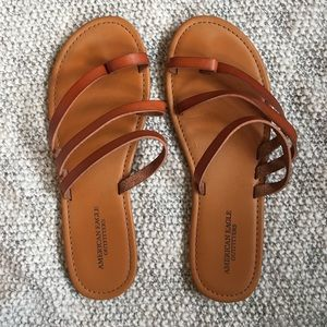 American Eagle Brown Strap Sandals
